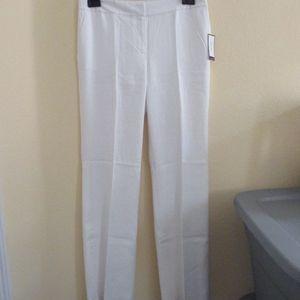 NINE WEST white linen-blend pants - sz 6 - $79.00